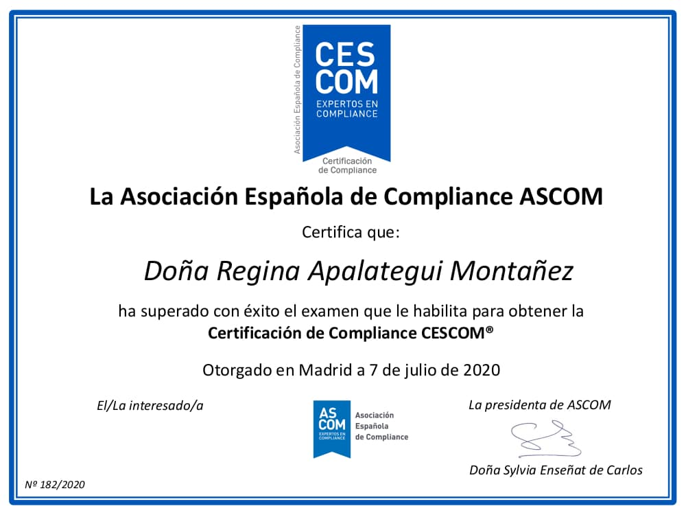CESCOM Compliance Certification